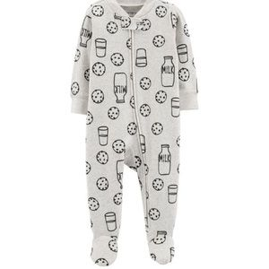 Other - Carters milk and cookie footed zip up romper